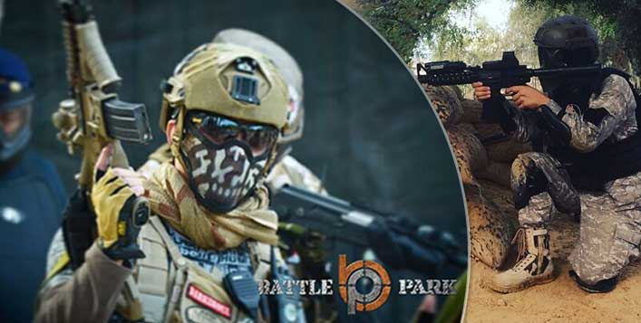 Largest outdoor paintball in the Middle-east!