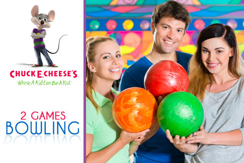 Enjoy a great outing with your family or friends and challenge them to a game of bowling or ice skating at Chuck E Cheese, Outlet Mall starting from AED 18