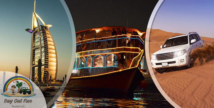 Desert Safari, Dubai City Tour & Dhow Cruise