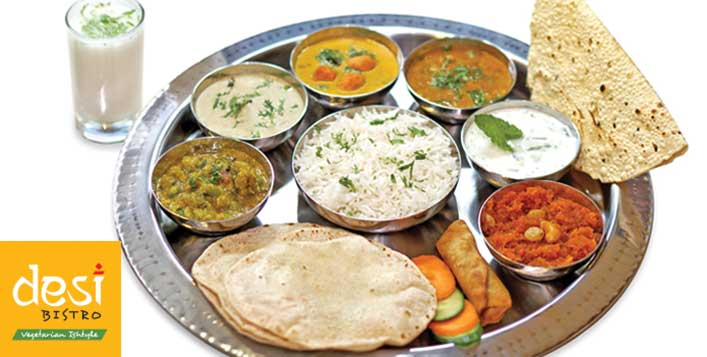 Enjoy Gujarati, Punjabi or Premium Thali