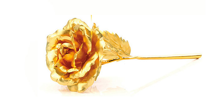 24K Gold Foil Plated Rose for AED 119