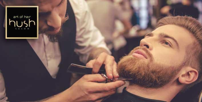 Haircut, Shave, Mini-facial at Hush Salon,JLT