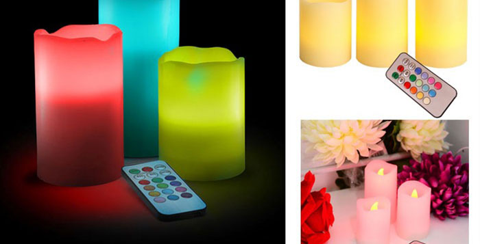 Flameless Scented LED Wax Candles