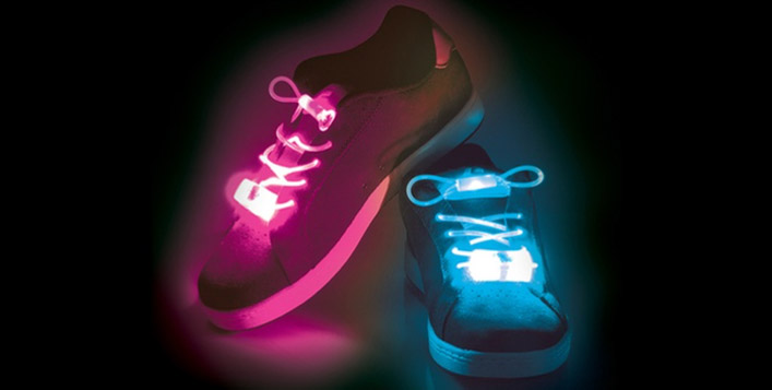 LED shoelaces: 3 Pairs