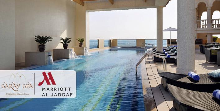 Unwind at the 5* Marriott Hotel Al Jaddaf
