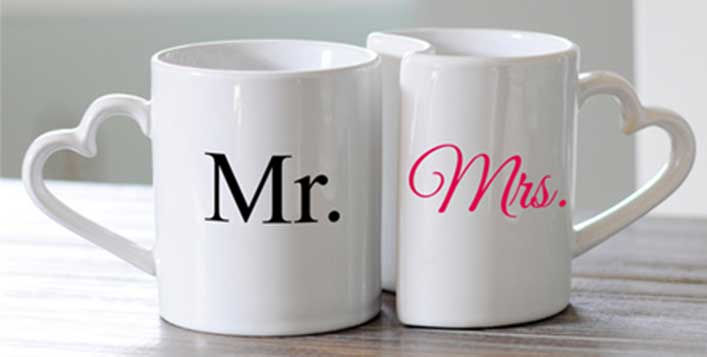 Spoil your loved one with custom printed mugs