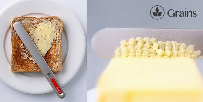 Spread butter with ease