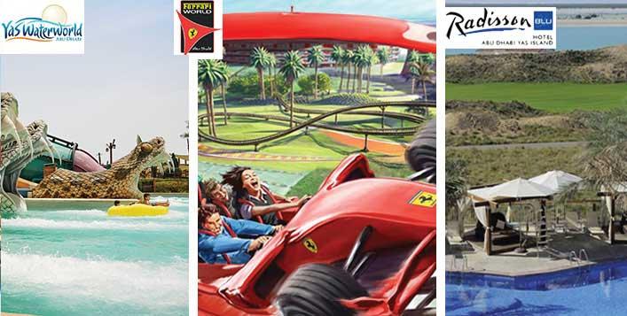 Stay + Yas Waterworld & Ferrari World Ticket