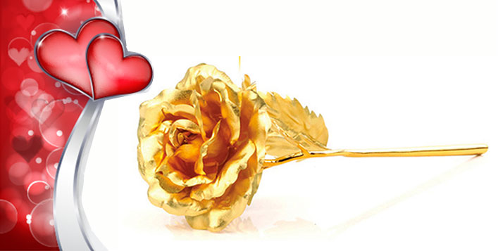 Surprise your Valentine with a Golden Rose