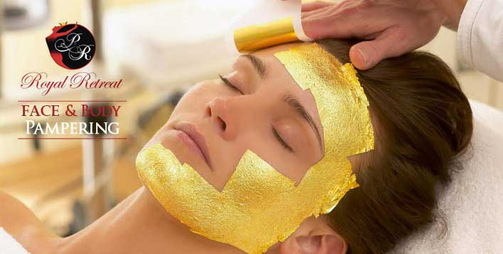 Options for 24K Gold facial and body scrub