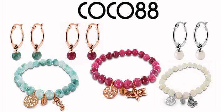 Coco88 Earring and Bracelet Combo