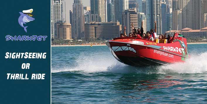Enjoy high speed SharkJet Thrill Ride