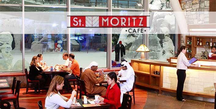Enjoy great views of Ski Dubai over a meal
