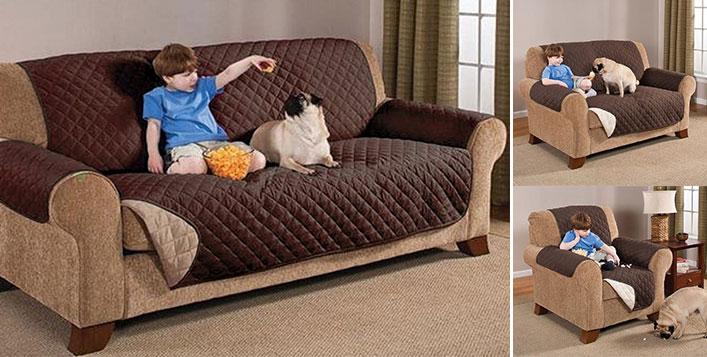 Micro Suede Sofa Protector
