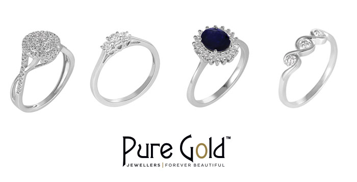 18k White Gold Rings from Pure Gold Jewellers