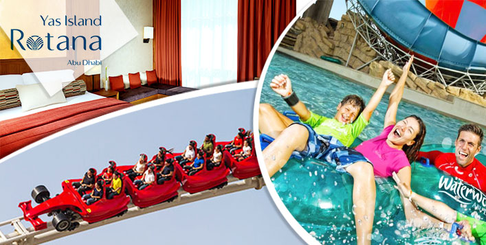 Stay with Ferrari World&Yas Waterworld passes